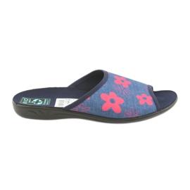 Dámské pantofle v květinách Adanex navy blue