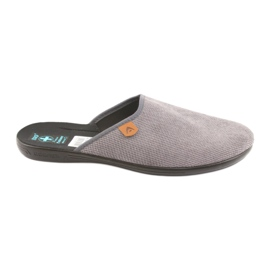 Pantofle Adanex pánské pantofle šedé šedá