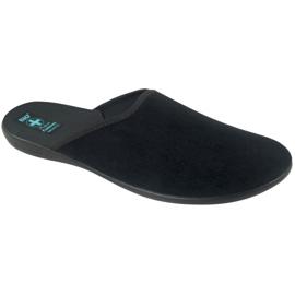 Šedá Pantofle Adanex pánské pantofle šedé