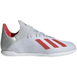 Sálová obuv adidas X 19.3 In Jr F35355 šedá / stříbrná šedá