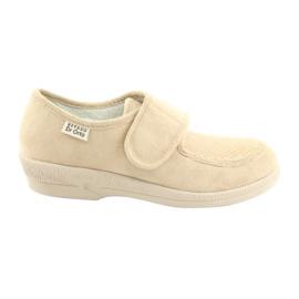 Hnědý Befado dámské boty pu 984D011