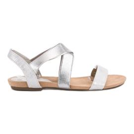 Evento šedá Slip-on sandály s gumičkou