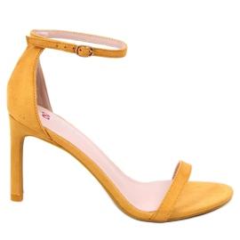 Sandály na čepu žluté NF-31P Yelow žlutý