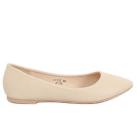 Dámské béžové baletní boty CC108 Beige hnědý