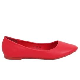 Dámské baleríny červené CC108 Red červená