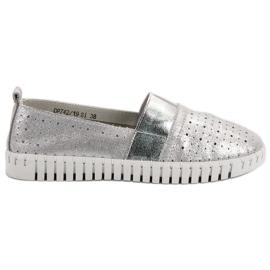 Filippo šedá Slip-on obuv s Brocade