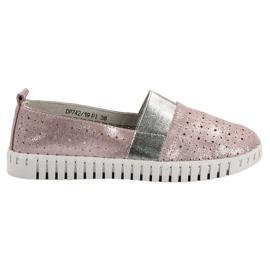 Filippo růžový Slip-on obuv s Brocade
