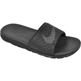 Černá Pantofle Nike Sportovní oblečení Solarsoft Benassi M 705474-091