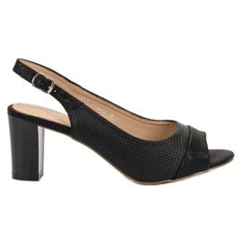 Evento černá Elegantní černé sandály
