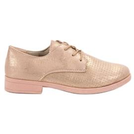 BLESS žlutý Elegantní dámské vycházkové boty