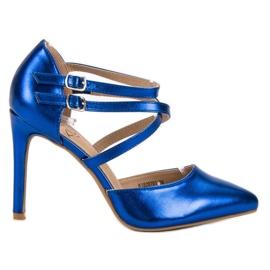 Kylie modrý Lesklé módní knoflíky
