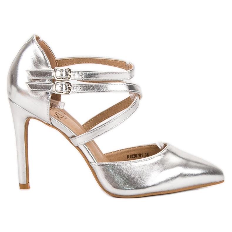 Kylie Lesklé módní knoflíky šedá