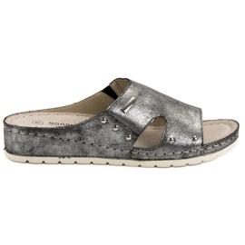 Goodin šedá Pohodlné pantofle