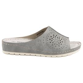 Goodin šedá Prolamované pantofle