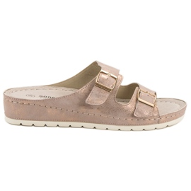 Goodin růžový Pantofle s přezkou