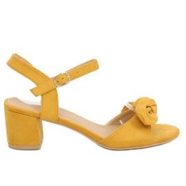 Žlutý Žluté vysoké podpatky FH-3M22 Žlutá
