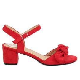 Červená Červené boty na podpatku FH-3M22 Red