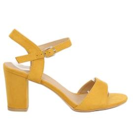 Žlutý Sandály na post žlutá FH-3M25 žlutá