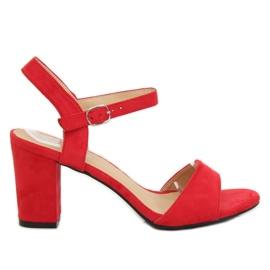 Červená Sandály na post červené FH-3M25 Red