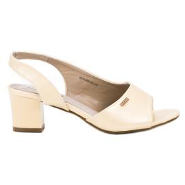 Goodin žlutý Elegantní Slip-on sandály