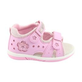 American Club růžový Americké Club DR20 růžové dívčí sandály