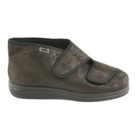 Hnědý Befado dámské boty pu 986D007
