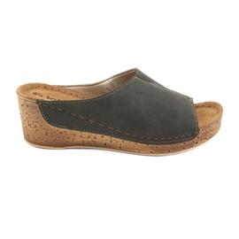 Dámské pantofle Inblu NG002 černá hnědá