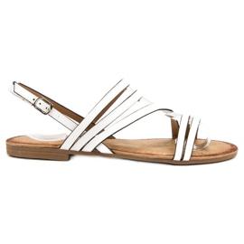 Primavera bílá Klasické bílé sandály