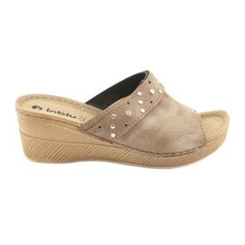Dámské pantofle Inblu OS007 hnědý