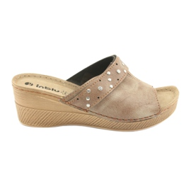 Hnědý Dámské pantofle Inblu OS007