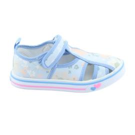 American Club Americké boty dětské boty s koženou vložkou na suchý zip