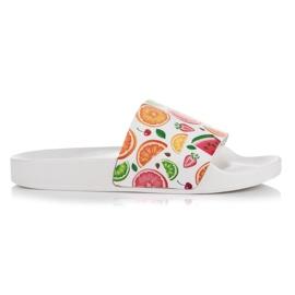 Vices bílá Ovocné pantofle