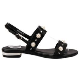 Kylie černá Pohodlné černé sandály