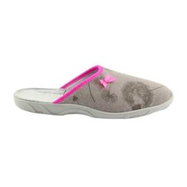 Pantofle Befado 235d162 pantofle šedé