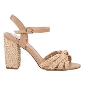 Vices hnědý Opletené sandály Sandály