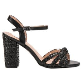 Vices černá Opletené sandály Sandály