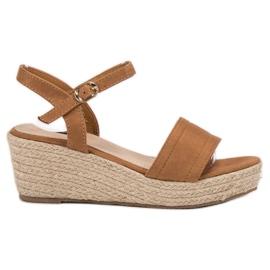 Vices hnědý Platforma sandály
