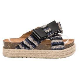Vices černá Textilní Pantofle Na Platformě