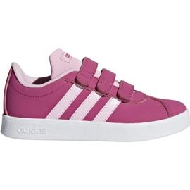 Růžový Boty Adidas Vl Court 2.0 Cmf C růžová Jr F36394