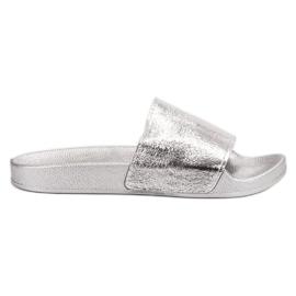 Small Swan šedá Dámské pantofle pro volný čas