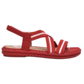 Seastar červená Pohodlné dámské sandály