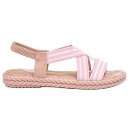 Seastar Pohodlné dámské sandály růžový