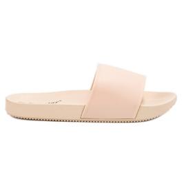 Seastar hnědý Béžové pantofle