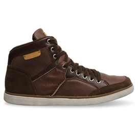 XF117 Camel High Sneakers hnědý