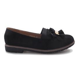 Černá Černé boty na boty s perlovým vnitřním lukem