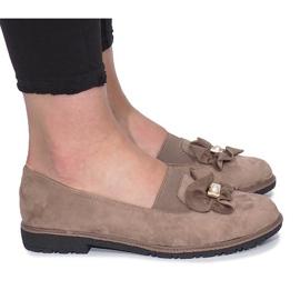 Khaki slip-on boty s perlovým vnitřním lukem
