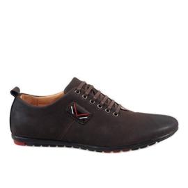 Hnědý Hnědé pánské boty WF932-3