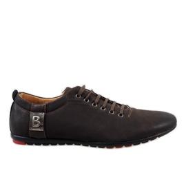 Hnědý Hnědé pánské boty WF933-3