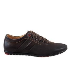 Hnědý Hnědé pánské boty WF931-3