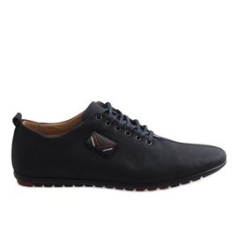 Černá Černé pánské boty WF932-1